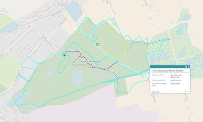 carte sentier du domaine de bellenville