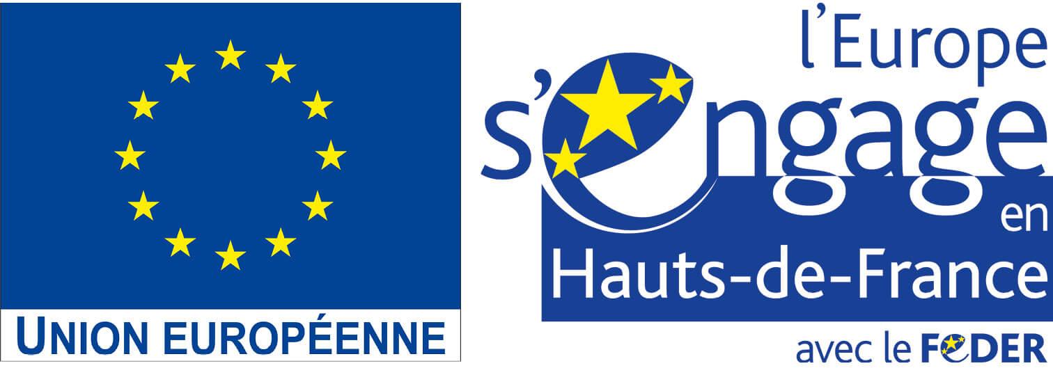 Logo de l'union européenne et du FEDER