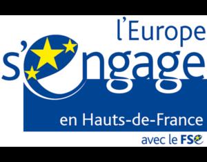 Logo l'europe s'engage avec le FSE