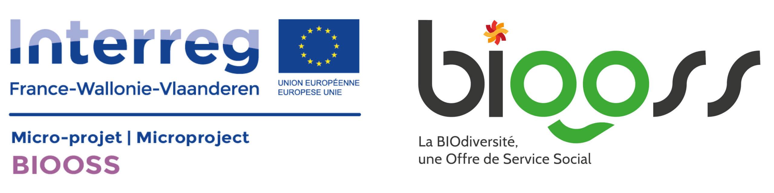Logo Interreg et BIOOSS