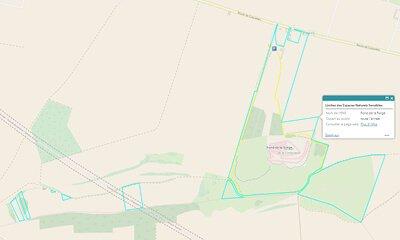 carte sentier du fond de la forge