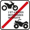 véhicule motorisé interdit